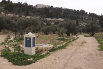 הר הזיתים ירושלים שלטי הסבר והכוונה במסלולי טיול